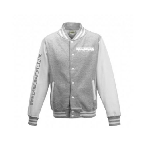 Chimney Sweep Grey Varsity Jacket